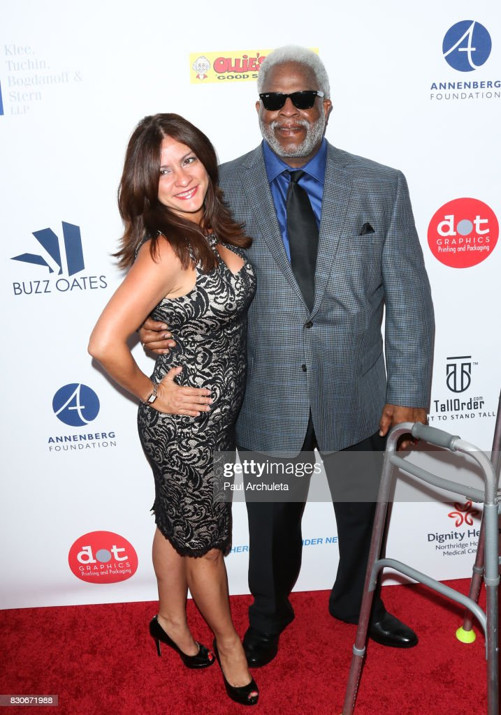 Former Professional Athlete Earl Campbell (R) attends the 17th Annual Harold & Carole Pump Foundation Gala at The Beverly Hilton Hotel on August 11, 2017 in Beverly Hills, California.