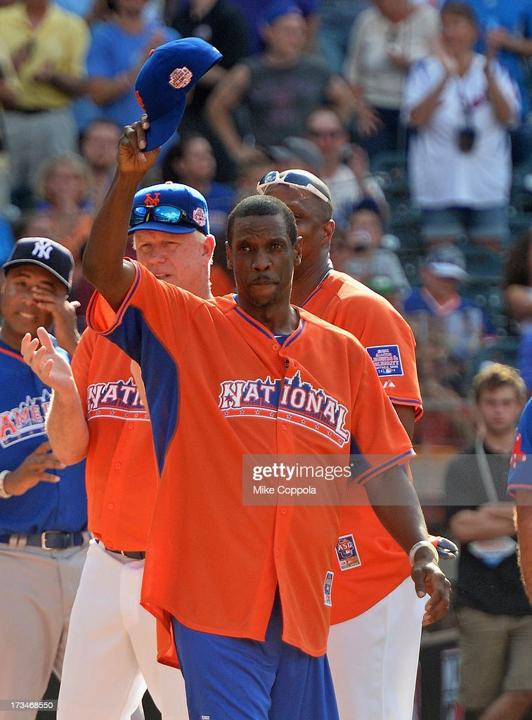 Former professional baseball player <a gi-track='captionPersonalityLinkClicked' href=/galleries/search?phrase=Dwight+Gooden&family=editorial&specificpeople=206257 ng-click='$event.stopPropagation()'>Dwight Gooden</a> attends the Taco Bell All-Star Legends & Celebrity Softball Game at Citi Field on July 14, 2013 in New York City.