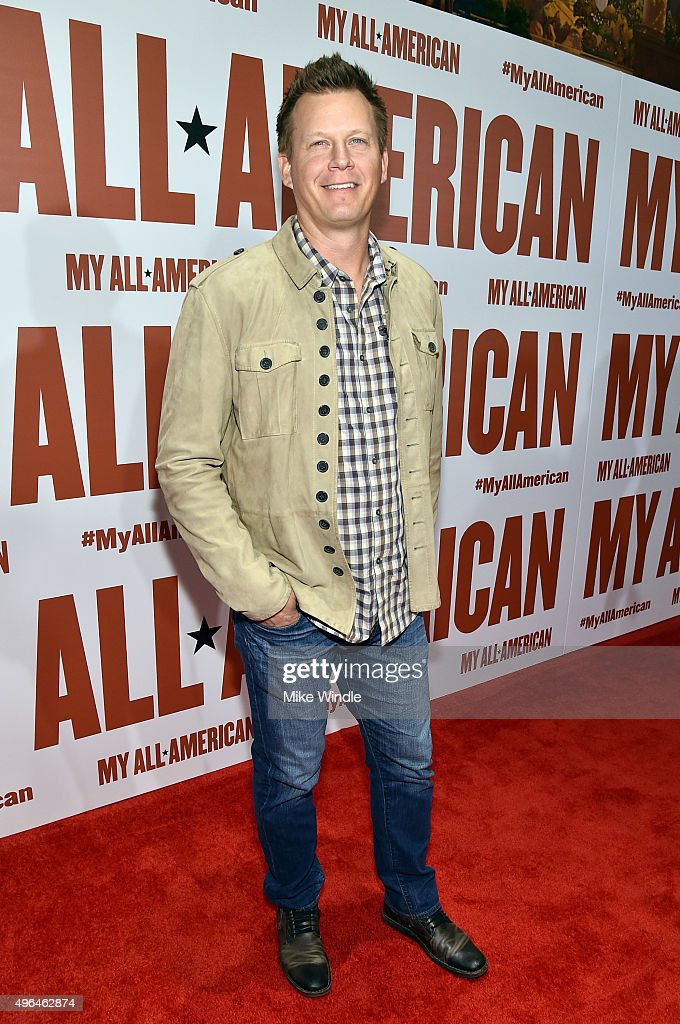 Former professional baseball player Geoff Blum attends the premiere of Clarius Entertainment's 'My All American' at The Grove on November 9, 2015 in Los Angeles, California.