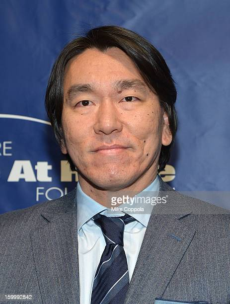 Former professional baseball player Hideki Matsui attends Joe Torre's Safe At Home Foundation's 10th Anniversary Gala at Pier 60 on January 24 2013...