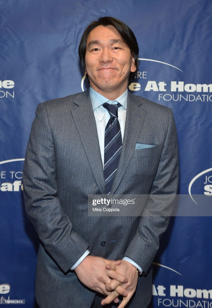 Former professional baseball player Hideki Matsui attends Joe Torre's Safe At Home Foundation's 10th Anniversary Gala at Pier 60 on January 24, 2013 in New York City.