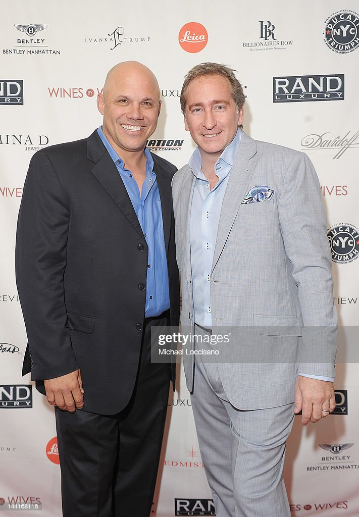 Former Professional Baseball Player Jim Leyritz (L) and President/CEO of The Luxury Review Bradford Rand attend The Luxury Review Press Preview & Private Shopping Experience: NYC at Metropolitan Pavillion on May 10, 2012 in New York City.