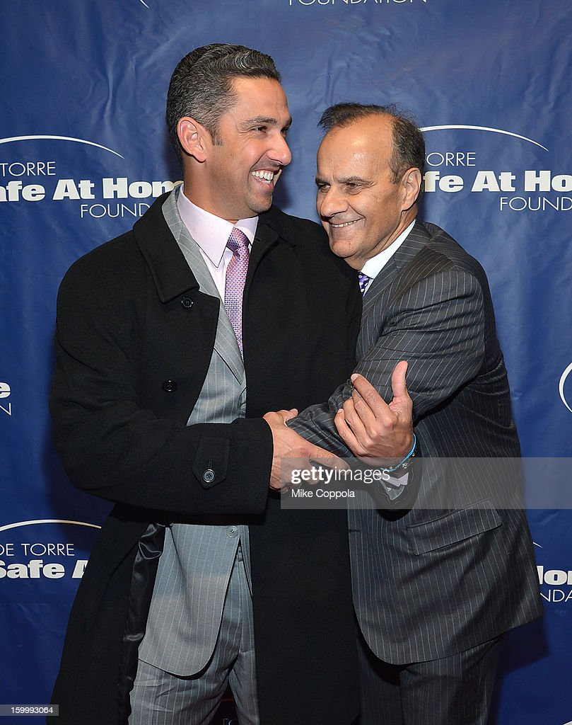 Former professional baseball player <a gi-track='captionPersonalityLinkClicked' href=/galleries/search?phrase=Jorge+Posada&family=editorial&specificpeople=202157 ng-click='$event.stopPropagation()'>Jorge Posada</a> and former professional baseball player/manager <a gi-track='captionPersonalityLinkClicked' href=/galleries/search?phrase=Joe+Torre&family=editorial&specificpeople=204583 ng-click='$event.stopPropagation()'>Joe Torre</a> attend <a gi-track='captionPersonalityLinkClicked' href=/galleries/search?phrase=Joe+Torre&family=editorial&specificpeople=204583 ng-click='$event.stopPropagation()'>Joe Torre</a>'s Safe At Home Foundation's 10th Anniversary Gala at Pier 60 on January 24, 2013 in New York City.