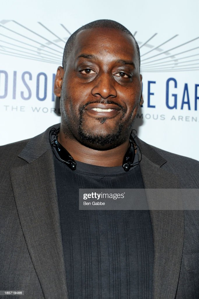 Former professional basketball player <a gi-track='captionPersonalityLinkClicked' href=/galleries/search?phrase=Anthony+Mason&family=editorial&specificpeople=211499 ng-click='$event.stopPropagation()'>Anthony Mason</a> attends the Madison Square Garden Transformation Unveiling at Madison Square Garden on October 24, 2013 in New York City.