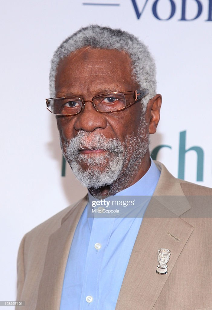 Former professional basketball player <a gi-track='captionPersonalityLinkClicked' href=/galleries/search?phrase=Bill+Russell+-+Basketball+Player&family=editorial&specificpeople=11524303 ng-click='$event.stopPropagation()'>Bill Russell</a> attends 2010 Sports Illustrated Sportsman of the Year Celebration at IAC Building on November 30, 2010 in New York City.
