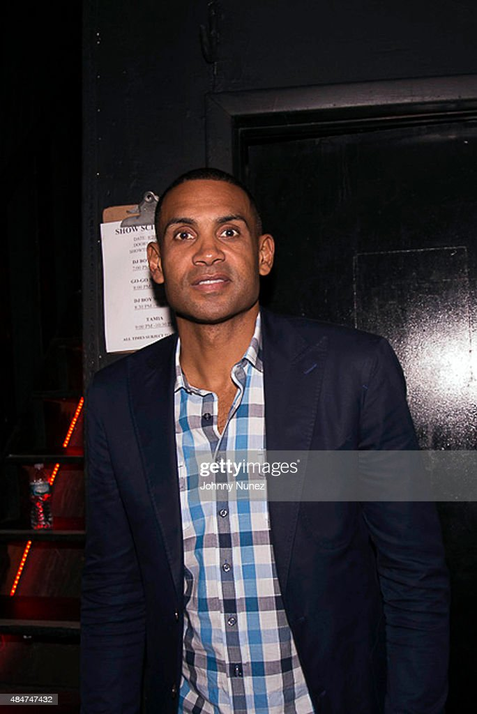 Former professional basketball player <a gi-track='captionPersonalityLinkClicked' href=/galleries/search?phrase=Grant+Hill+-+Basketball+Player&family=editorial&specificpeople=201658 ng-click='$event.stopPropagation()'>Grant Hill</a> attends the Tamia concert at Irving Plaza on August 20, 2015, in New York City.