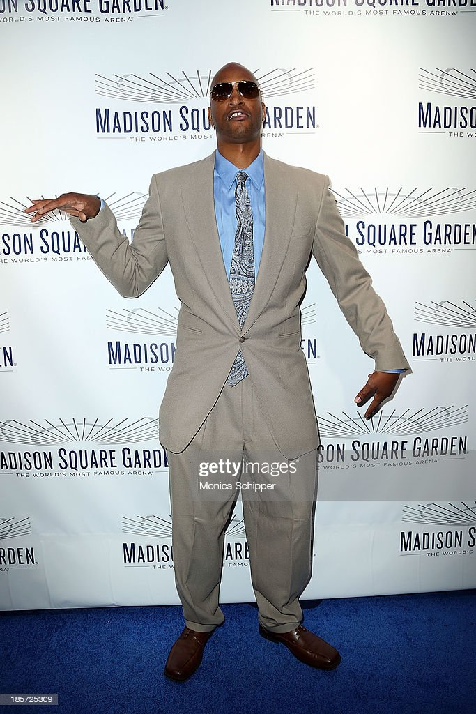 Former professional basketball player <a gi-track='captionPersonalityLinkClicked' href=/galleries/search?phrase=John+Wallace+-+Basketball+Player&family=editorial&specificpeople=15163289 ng-click='$event.stopPropagation()'>John Wallace</a> attends the unveiling of Madison Square Garden on October 24, 2013 in New York City.