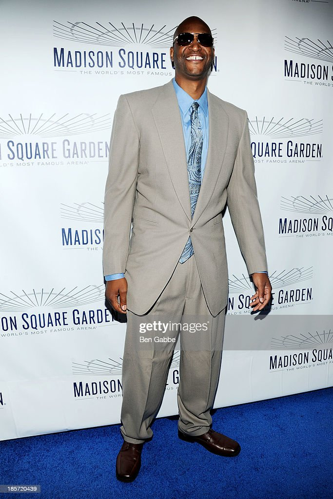 Former professional basketball player <a gi-track='captionPersonalityLinkClicked' href=/galleries/search?phrase=John+Wallace+-+Basketball+Player&family=editorial&specificpeople=15163289 ng-click='$event.stopPropagation()'>John Wallace</a> attends the Madison Square Garden Transformation Unveiling at Madison Square Garden on October 24, 2013 in New York City.