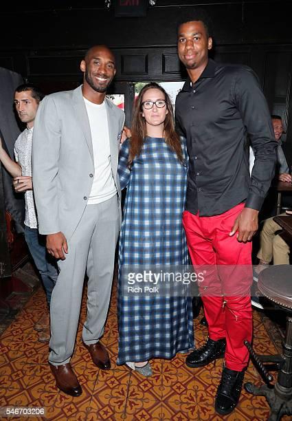 Former professional basketball player Kobe Bryant President The Players Tribune Jaymee Messler and professional basketball player Hassan Whiteside...