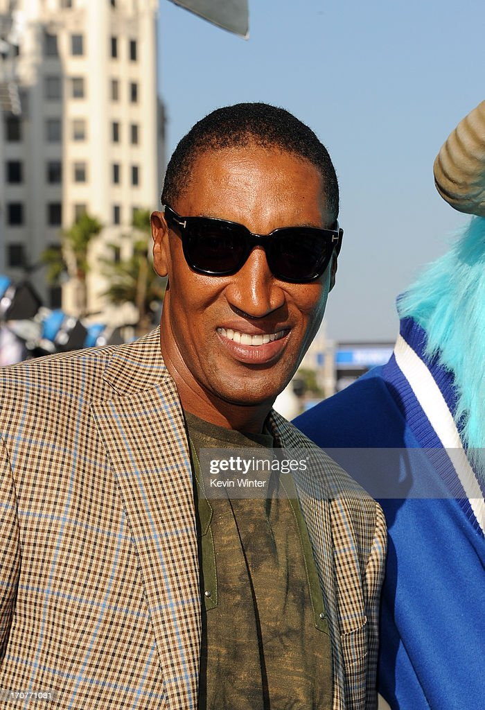 Former professional basketball player <a gi-track='captionPersonalityLinkClicked' href=/galleries/search?phrase=Scottie+Pippen&family=editorial&specificpeople=202466 ng-click='$event.stopPropagation()'>Scottie Pippen</a> attends the world premiere of Disney Pixar's 'Monsters University' at the El Capitan Theatre on June 17, 2013 in Hollywood, California.