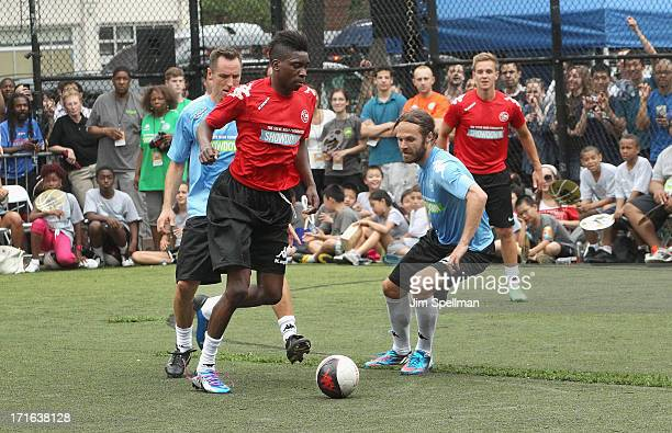 Former Professional Basketball Player Steve Nash soccer players Sammy Ameobi and Stuart Holden attend The Sixth Edition Steve Nash Foundation...