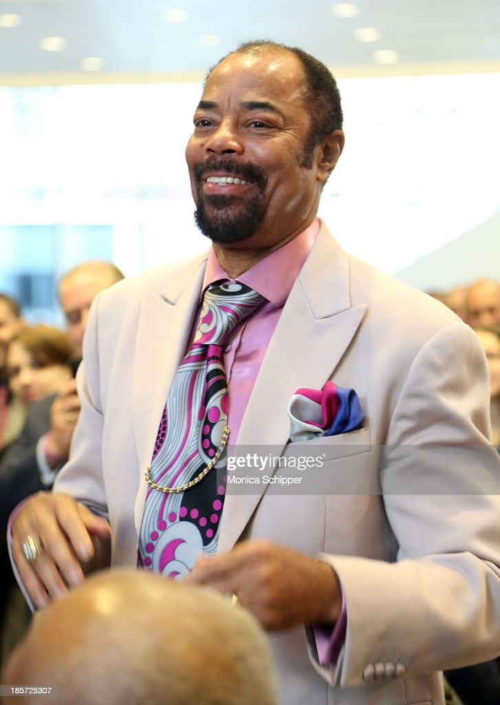 Former professional basketball player Walt 'Clyde' Frazier attends the unveiling of Madison Square Garden on October 24, 2013 in New York City.