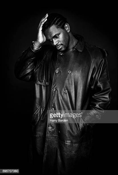 Former professional boxer Audley Harrison is photographed for the BBC on November 24 2000 in London England
