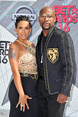 Former professional boxer Floyd Mayweather and Melissia Brim attend the 2016 BET Awards at Microsoft Theater on June 26 2016 in Los Angeles California