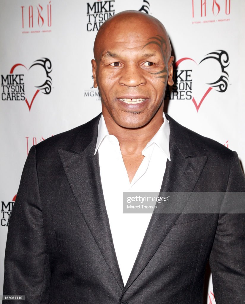 Former professional boxer Mike Tyson attends the Launch Party for 'Mike Tyson Cares Foundation' at Tabu Ultra Lounge at MGM Grand on December 7, 2012 in Las Vegas, Nevada.