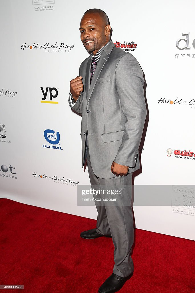 Former professional boxer <a gi-track='captionPersonalityLinkClicked' href=/galleries/search?phrase=Roy+Jones+Jr.&family=editorial&specificpeople=171834 ng-click='$event.stopPropagation()'>Roy Jones Jr.</a> attends the 14th Annual Harold & Carole Pump Foundation Gala at the Hyatt Regency Century Plaza on August 8, 2014 in Century City, California.