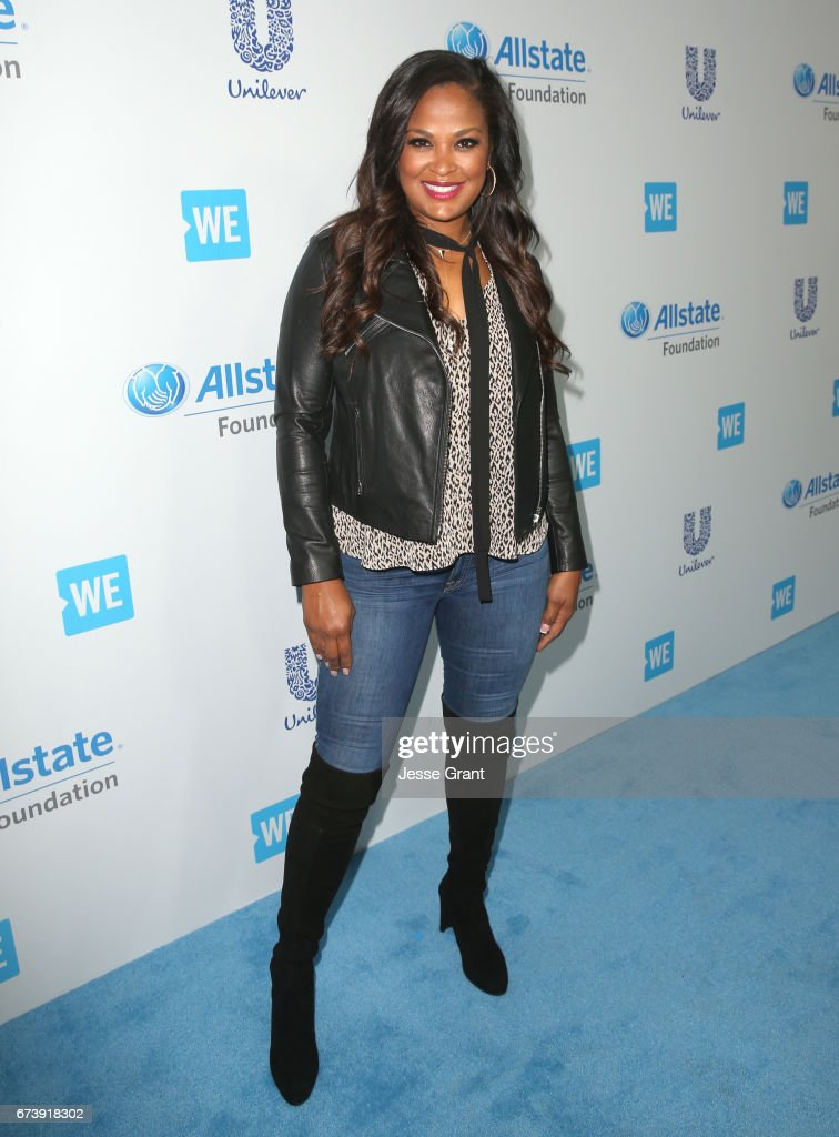 Former professional boxer/TV host Laila Ali attends WE Day California to celebrate young people changing the world at The Forum on April 27, 2017 in Inglewood, California.