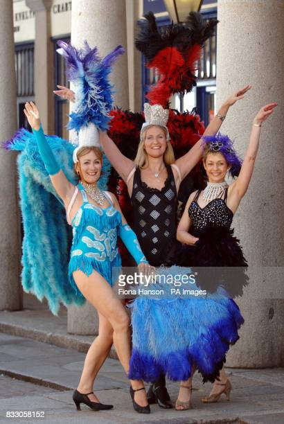 Former professional dancer Sandra Carter ex Tiller Girl Liz Burville and Hill's Angel Alison Kerridge who are auditioning for parts starring mature...