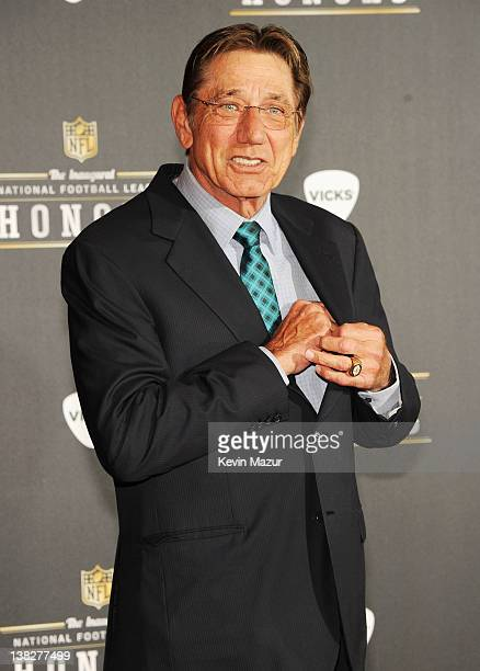 Former Professional Footbal Player Joe Namath attends the 2012 NFL Honors at the Murat Theatre on February 4 2012 in Indianapolis Indiana