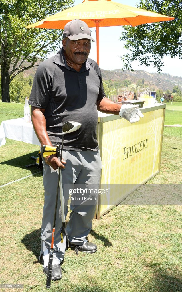 Former professional football player and actor Jim Brown attends The 4th annual Alex Thomas Celebrity Golf Classic presented by Belvedere at Mountain Gate Country Club on July 15, 2013 in Los Angeles, California.