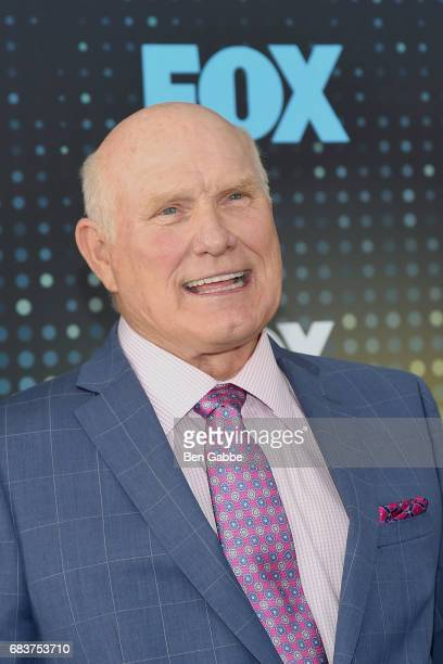 Former professional football player and commentator Terry Bradshaw attends the 2017 FOX Upfront at Wollman Rink on May 15 2017 in New York City