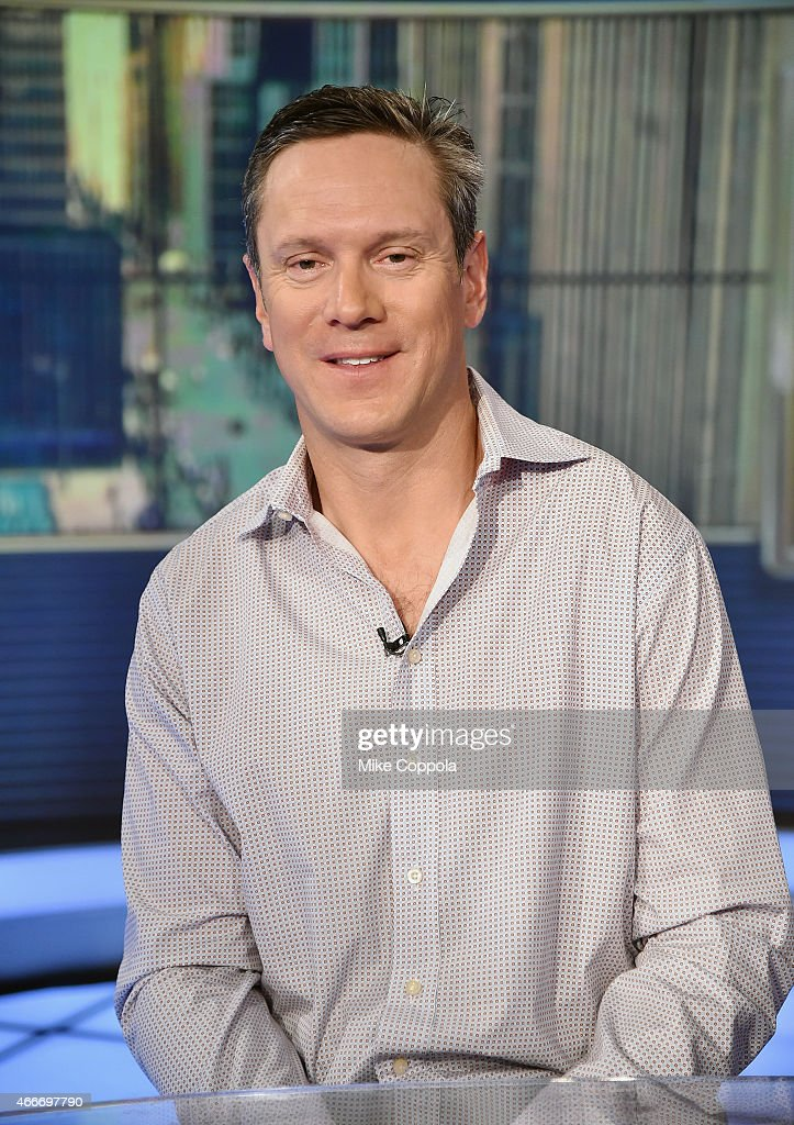 Former professional football player <a gi-track='captionPersonalityLinkClicked' href=/galleries/search?phrase=Drew+Bledsoe&family=editorial&specificpeople=183356 ng-click='$event.stopPropagation()'>Drew Bledsoe</a> visits FOX Business Network With Melissa Francis at FOX Studios on March 18, 2015 in New York City.