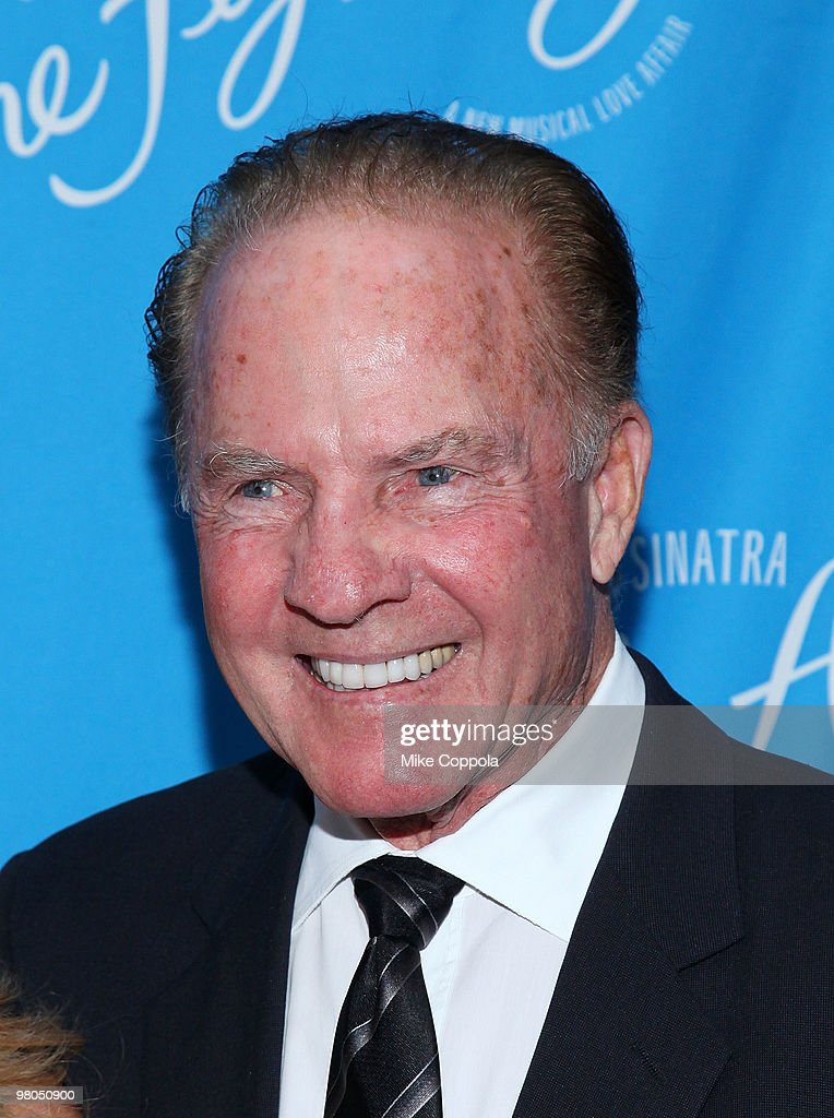Former professional football player <a gi-track='captionPersonalityLinkClicked' href=/galleries/search?phrase=Frank+Gifford&family=editorial&specificpeople=214258 ng-click='$event.stopPropagation()'>Frank Gifford</a> attends the Broadway opening of 'Come Fly Away' at the Marriott Marquis on March 25, 2010 in New York City.