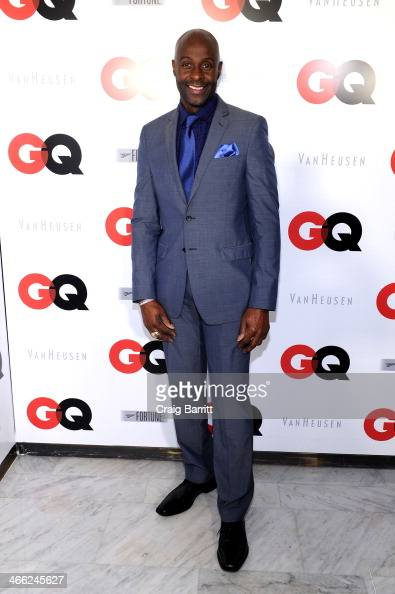 Former professional football player Jerry Rice attends the GQ Super Bowl Party 2014 sponsored by Patron Tequila Van Heusen and Miller Fortune on...