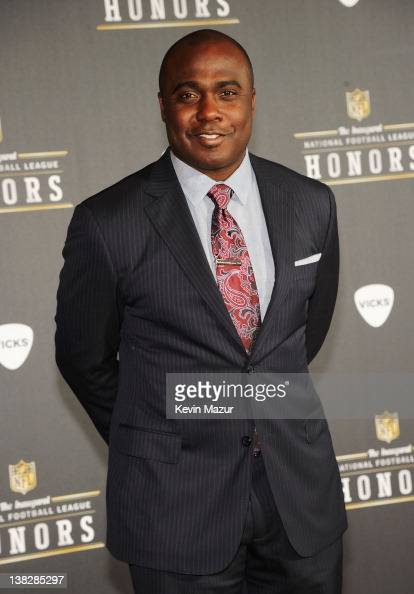 Former Professional Football Player Marshall Faulk attends the 2012 NFL Honors at the Murat Theatre on February 4 2012 in Indianapolis Indiana