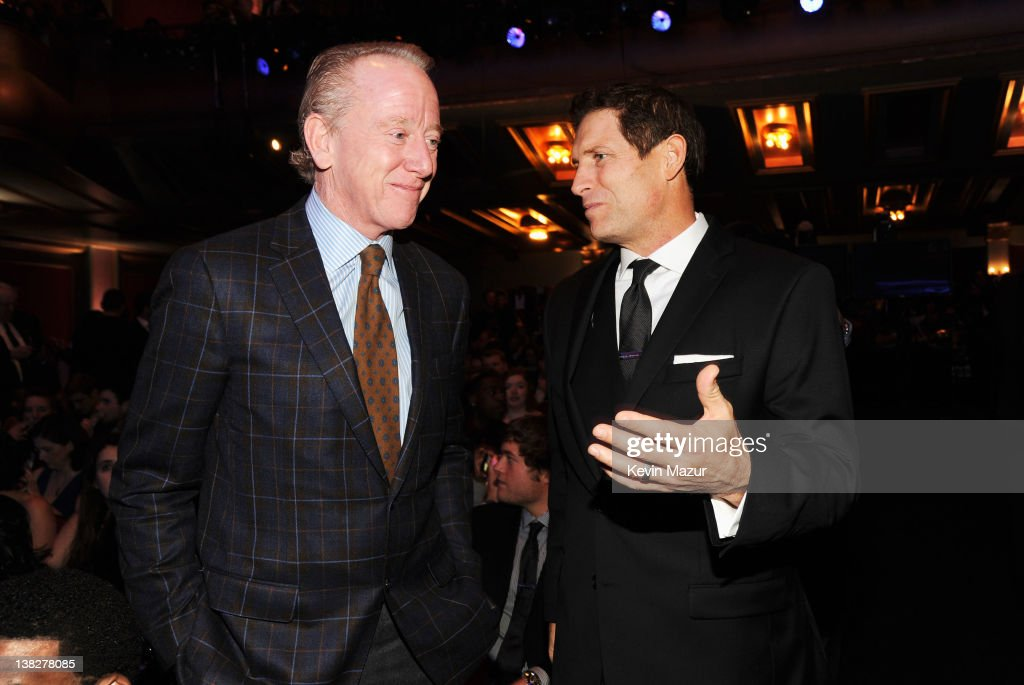 Former Professional Football Players <a gi-track='captionPersonalityLinkClicked' href=/galleries/search?phrase=Archie+Manning&family=editorial&specificpeople=453294 ng-click='$event.stopPropagation()'>Archie Manning</a> (L) and <a gi-track='captionPersonalityLinkClicked' href=/galleries/search?phrase=Steve+Young+-+American+Football+Player&family=editorial&specificpeople=203102 ng-click='$event.stopPropagation()'>Steve Young</a> in the audience during the 2012 NFL Honors at the Murat Theatre on February 4, 2012 in Indianapolis, Indiana.