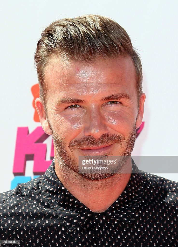 Former professional soccer player <a gi-track='captionPersonalityLinkClicked' href=/galleries/search?phrase=David+Beckham&family=editorial&specificpeople=158480 ng-click='$event.stopPropagation()'>David Beckham</a> attends the Nickelodeon Kids' Choice Sports Awards 2014 at Pauley Pavilion on July 17, 2014 in Los Angeles, California.