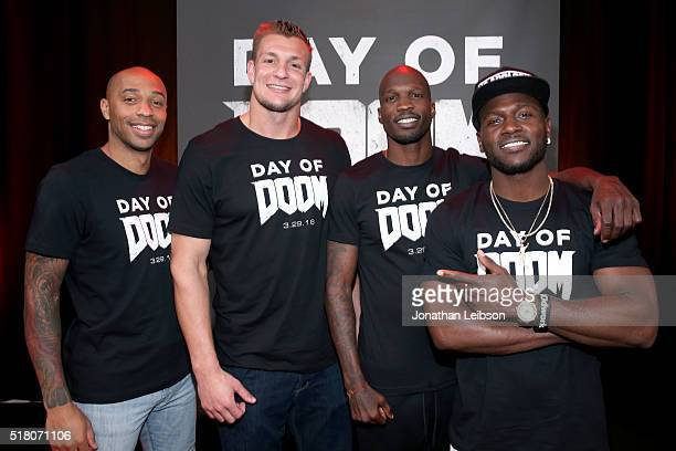Former professional soccer player Thierry Henry NFL player Rob Gronkowski former NFL player Chad 'Ochocinco' Johnson and NFL player Antonio Brown...