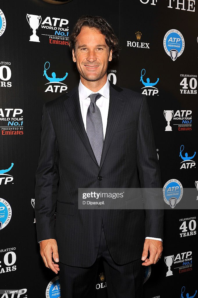 Former professional tennis player Carlos Moya attends the ATP Heritage Celebration at The Waldorf=Astoria on August 23, 2013 in New York City.