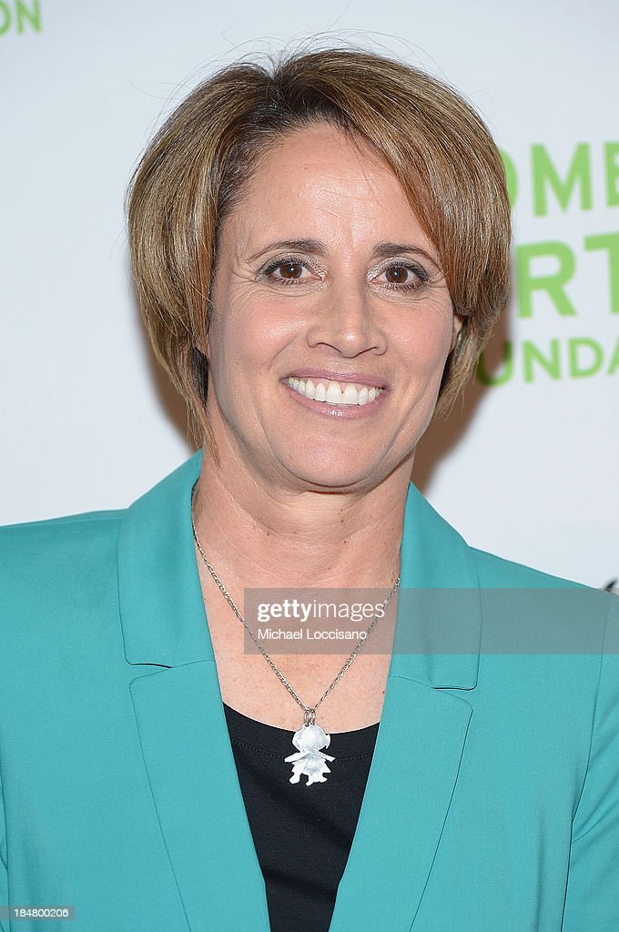 Former professional tennis player Mary Carillo attends the 34th annual Salute to Women In Sports Awards at Cipriani Wall Street on October 16 2013 in...