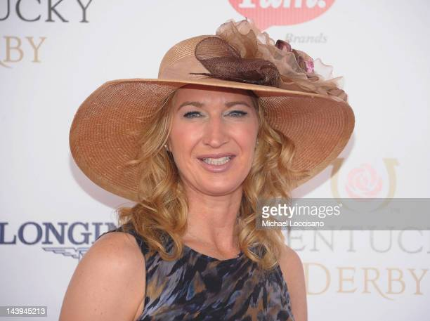 Former Professional Tennis Player Steffi Graf attends the 138th Kentucky Derby at Churchill Downs on May 5 2012 in Louisville Kentucky
