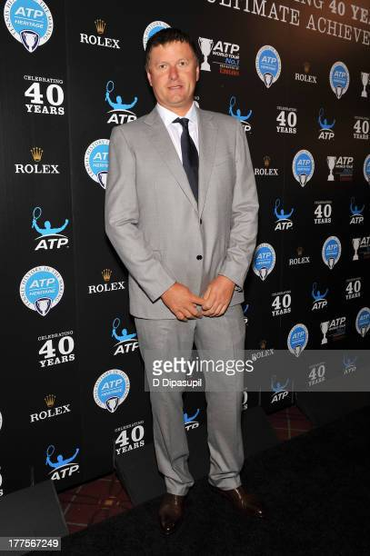 Former professional tennis player Yevgeny Kafelnikov attends the ATP Heritage Celebration at The Waldorf=Astoria on August 23 2013 in New York City