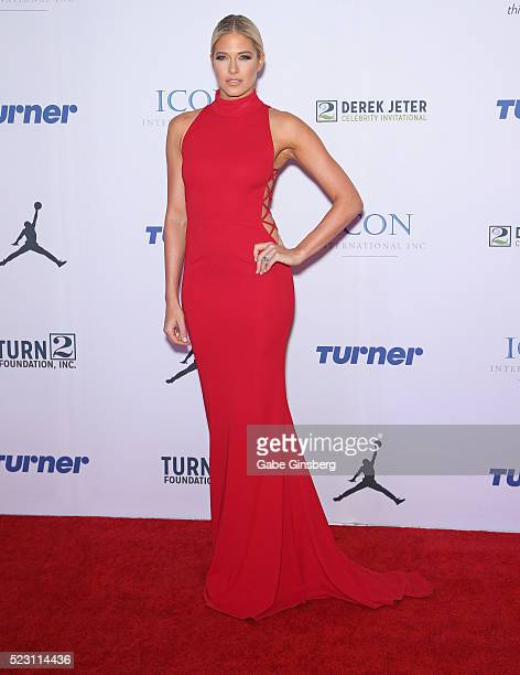 Former professional wrestler and model Barbie Blank Souray attends the Derek Jeter Celebrity Invitational gala at the Aria Resort Casino on April 21...