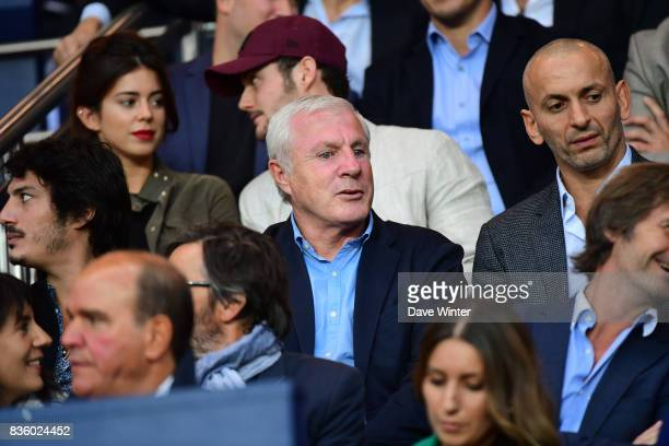 Former PSG player and coach Luis Fernandez who has now been nominated as the director of the clubs youth team set up during the Ligue 1 match between...