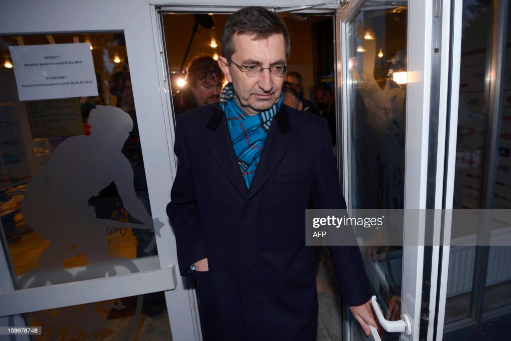 Former Rabobank team doctor Geert Leinders leaves after a hearing of the Belgian Royal Cycling Association in Brussels, on January 24, 2013. Rabobank, which has sponsored a professional cycling team for the last 17 years, announced last October that it would sever its ties with the team from December 31, claiming the sport had been irrevocably damaged by a succession of doping cases, notably the devastating Lance Armstrong affair. From January 1, 2013, the team rideS under the banner of Blanco Pro Cycling. Armstrong had already been stripped of his seven Tour de France titles and his 2000 Olympic bronze medal before making his personal confession to American talk show host Oprah Winfrey last week.