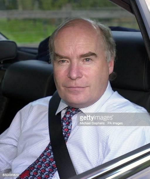 Former Railtrack chief executive Gerald Corbett arriving back at his home near Redbourne Hertfordshire following his resignation Mr Corbett's...