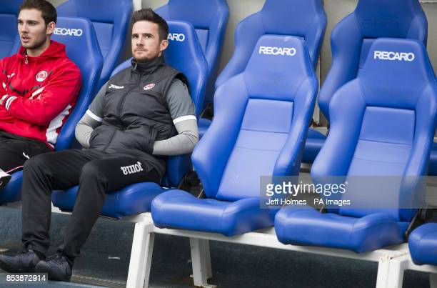 Former Rangers captain Barry Ferguson back at Ibrox as manager of Clyde during the Petrofac Training Cup Second Round match at Ibrox Stadium Glasgow