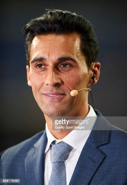 Former Real Madrid player Alvaro Arbeloa prior the Trofeo Santiago Bernabeu match between Real Madrid and ACF Fiorentina at Estadio Santiago Bernabeu...