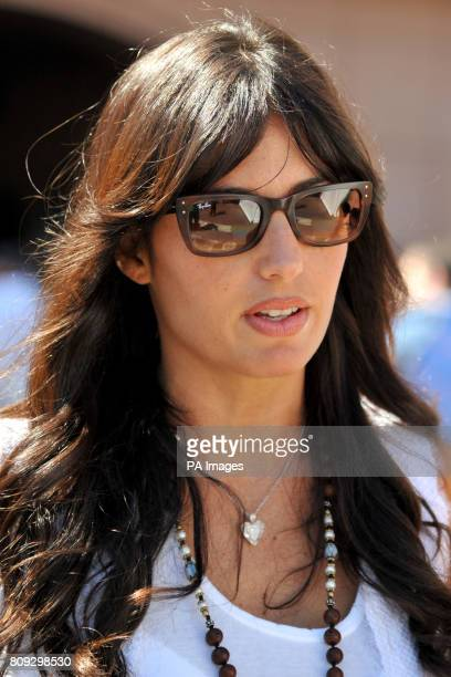 Former Renault owner Flavio Briatores wife Elisabetta Gregoraci during the Monaco Grand Prix at the Circuit de Monaco Monte Carlo