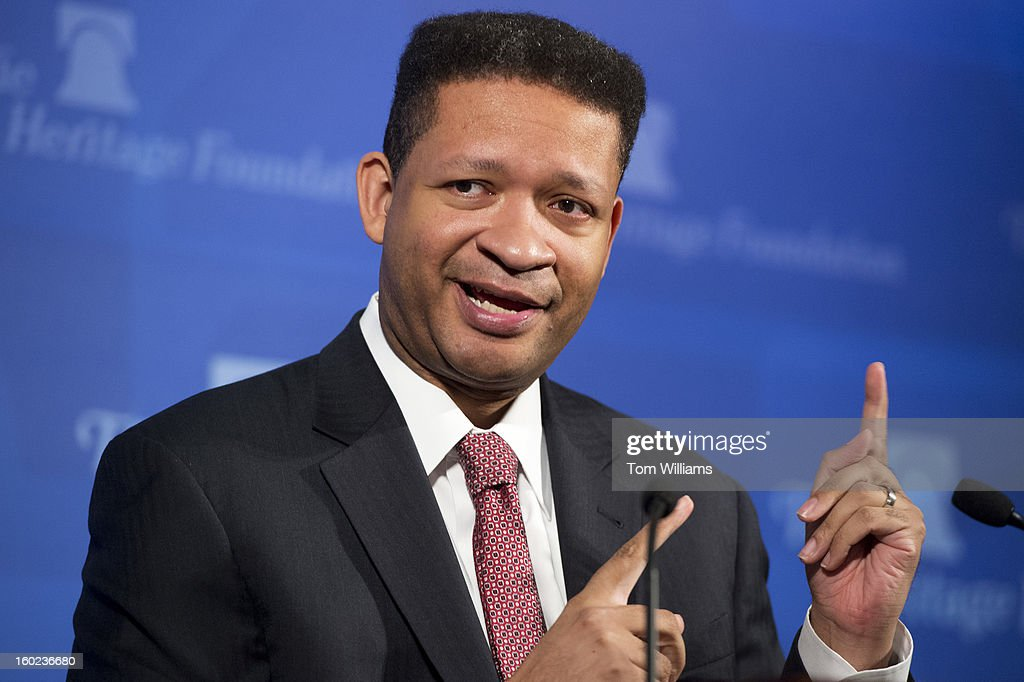 Former Rep. Artur Davis, D-Ala., fellow at the Institute of Politics at Harvard University, conducts a discussion at the Foundation entitled 'Choosing to Succeed: A Conversation about Educational Opportunity.'