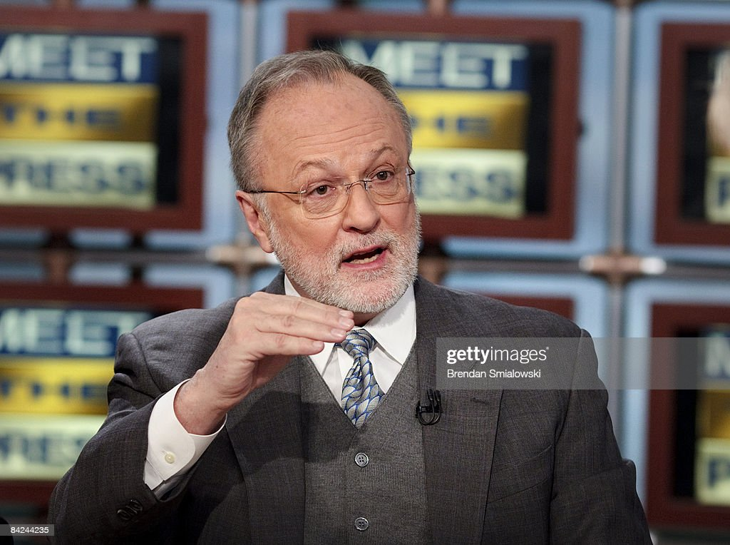 Former Rep. David Bonior (D-MI), a member of President-elect Barack Obama's Economic Transition Team, speaks during a live taping of 'Meet the Press' at the NBC studios January 11, 2009 in Washington, DC. The panel discussion was focused on the current economy.