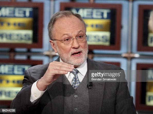 Former Rep David Bonior a member of Presidentelect Barack Obama's Economic Transition Team speaks during a live taping of 'Meet the Press' at the NBC...