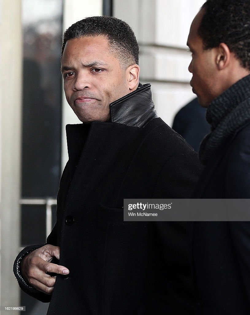 Former Rep. <a gi-track='captionPersonalityLinkClicked' href=/galleries/search?phrase=Jesse+Jackson+Jr.&family=editorial&specificpeople=1107074 ng-click='$event.stopPropagation()'>Jesse Jackson Jr.</a> enters U.S. District Court February 20, 2013 in Washington, DC. Jackson and his wife, Sandi Jackson, are expected to plead guilty to federal charges after being accused of spending more than $750,000 in campaign funds to purchase luxury items, memorabilia and other goods.