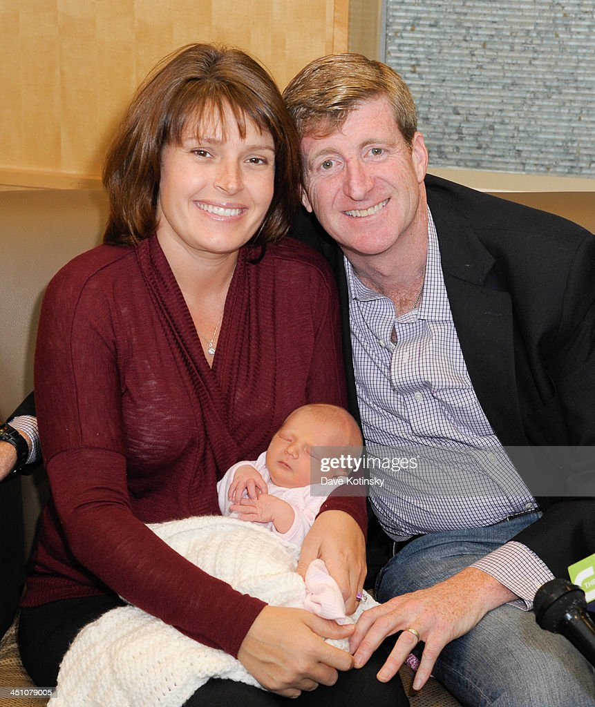 Former Rep. Patrick Kennedy wife, Amy Petitgout Kennedy and new daughter, Nora Kara Kennedy depart AtlantiCare Regional Medical Center on November 21, 2013 in Pomona, New Jersey. Daughter Nora Kara Kennedy was born at 3:11pm on November 19, 2013.