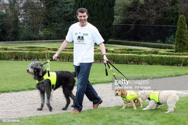 Former Republic of Ireland and Manchester United footballer Roy Keane launches the Irish Guide Dogs for the Blind's 2007 fundraising campaign at...