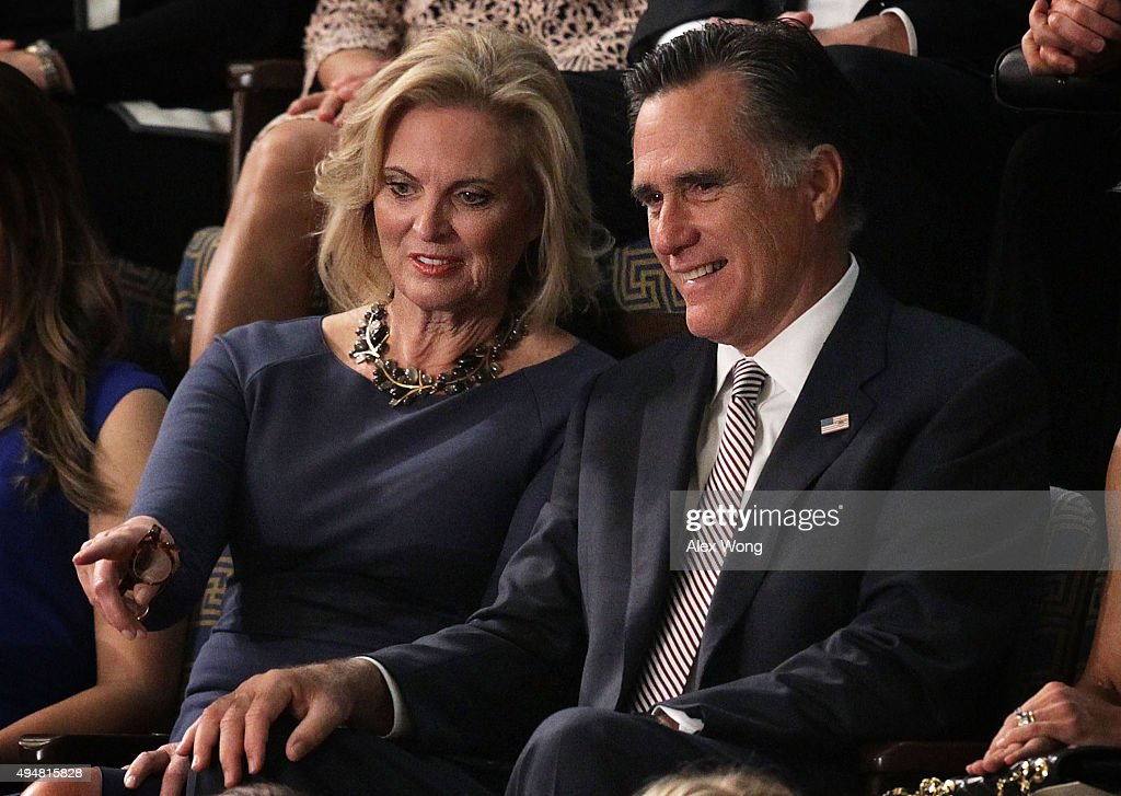 Former Republican presidential candidate <a gi-track='captionPersonalityLinkClicked' href=/galleries/search?phrase=Mitt+Romney&family=editorial&specificpeople=207106 ng-click='$event.stopPropagation()'>Mitt Romney</a> and his wife <a gi-track='captionPersonalityLinkClicked' href=/galleries/search?phrase=Ann+Romney&family=editorial&specificpeople=868004 ng-click='$event.stopPropagation()'>Ann Romney</a> watch a speaker election in the House Chamber of the Capitol October 29, 2015 on Capitol Hill in Washington, DC. The House of Representatives is scheduled to vote for a new speaker to succeed Boehner today.